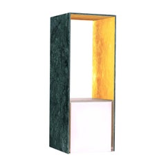Presence Table Lamp with Verde Guatemala and Gold