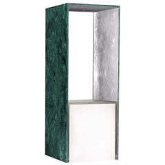 Presence Table Lamp with Verde Guatemala and Silver