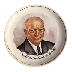 President Dwight D. Eisenhower Commemorative Ceramic Plate