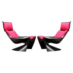 'President' Fiberglass Lounge Chairs by Steen Ostergaard for Cado, 1968, Signed