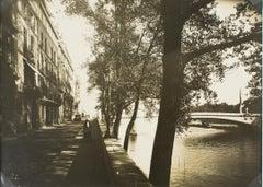 The Ile St Louis in Paris circa 1930 - Silver Gelatin Black & White Photograph