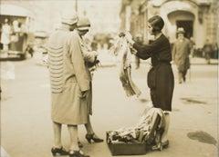 Paris during the Great Depression circa 1930  - Silver Gelatin B & W Photograph