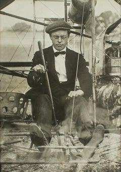 British Aeronaut EWC Perry circa 1910  - Silver Gelatin B & W Photograph by ROL