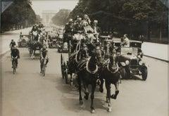 Paris, Carriages and Cars circa 1930 - Silver Gelatin Black & White Photograph