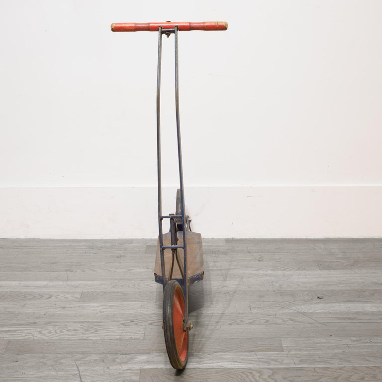 American Pressed Steel Push Scooter, circa 1940 For Sale