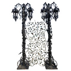 Garden Park Stylish Lanterns  Baroque Stylised Palace Lanterns