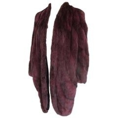 Pret-A-Porter Bordeaux Flared Mink Fur Coat