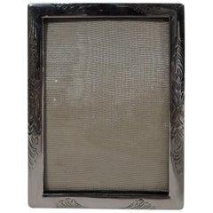 Pretty American Art Nouveau Sterling Silver Boudoir Picture Frame
