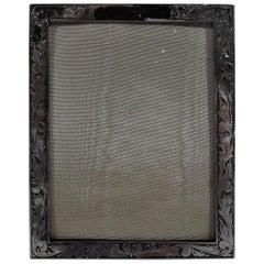 Pretty American Art Nouveau Sterling Silver Picture Frame