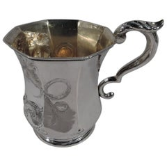 Pretty Antique American Coin Silver Baby Cup