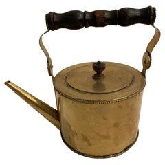 Pretty Antique Brass Tea Kettle