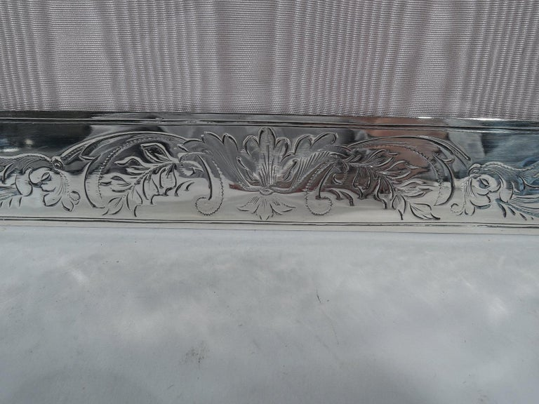 Pretty Antique Edwardian American Sterling Silver Picture Frame For Sale 2