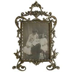 Pretty Antique English Cast Brass Photograph Frame, circa 1880