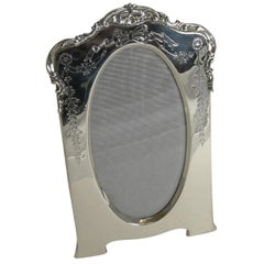 Pretty Antique English Sterling Silver Photograph Frame, 1905
