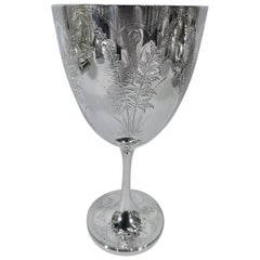 Pretty Antique English Victorian Sterling Silver Goblet