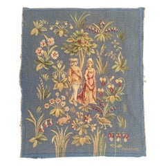 Pretty Antique French Aubusson Tapestry