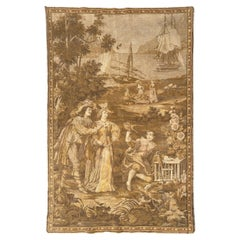 Pretty Antique French Jaquar Tapestry