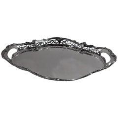 Pretty Antique Gorham Edwardian Art Nouveau Sterling Silver Tray