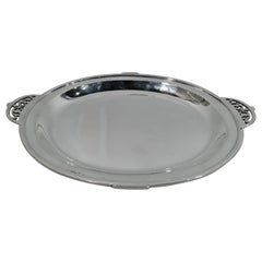 Pretty Antique Sterling Silver Classical Tray by Arthur Stone