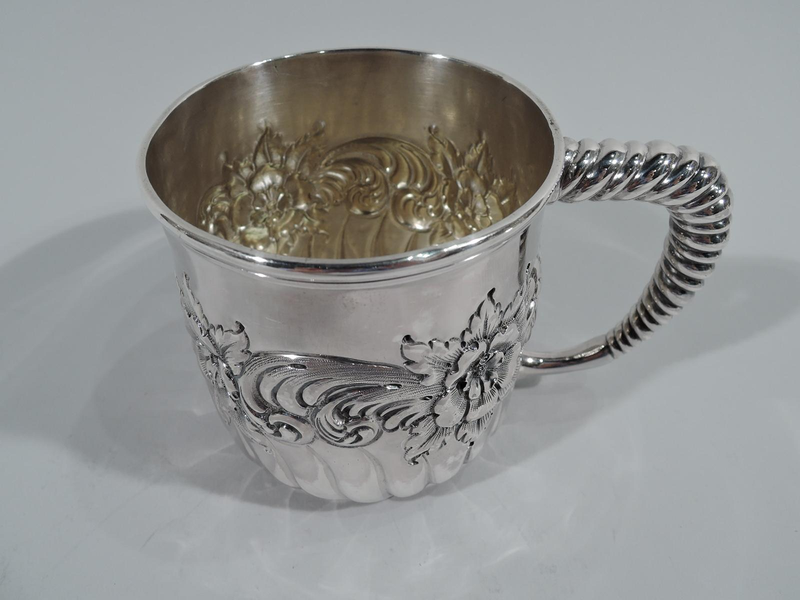 19e74383c103 Pretty Antique Whiting Sterling Silver Baby Cup For Sale at 1stdibs