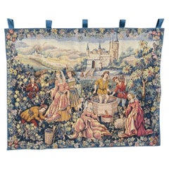 Pretty Aubusson Style French Jaquar Tapestry