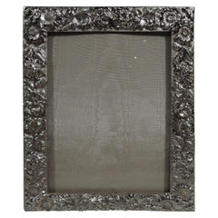 Pretty Baltimore Repousse Sterling Silver Picture Frame by Stieff