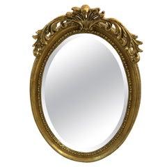 Pretty Friedman Brothers Oval Giltwood Mirror