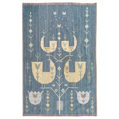 Pretty Mid Century Scandinavian Tapestry with Signature