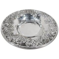 Pretty Old-Fashioned Baltimore Repousse Sterling Silver Bowl by Kirk