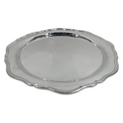 Pretty Old-Fashioned English Sterling Silver Serving Tray