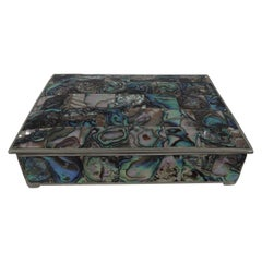 Pretty Trinket Box with Abalone Shell Mosaic