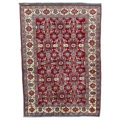 Pretty Vintage Chobi Afghan Rug