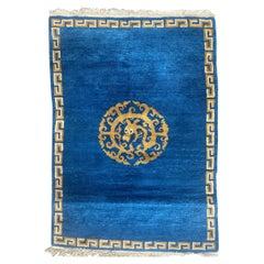 Pretty Vintage Nepalese Tibetan Rug