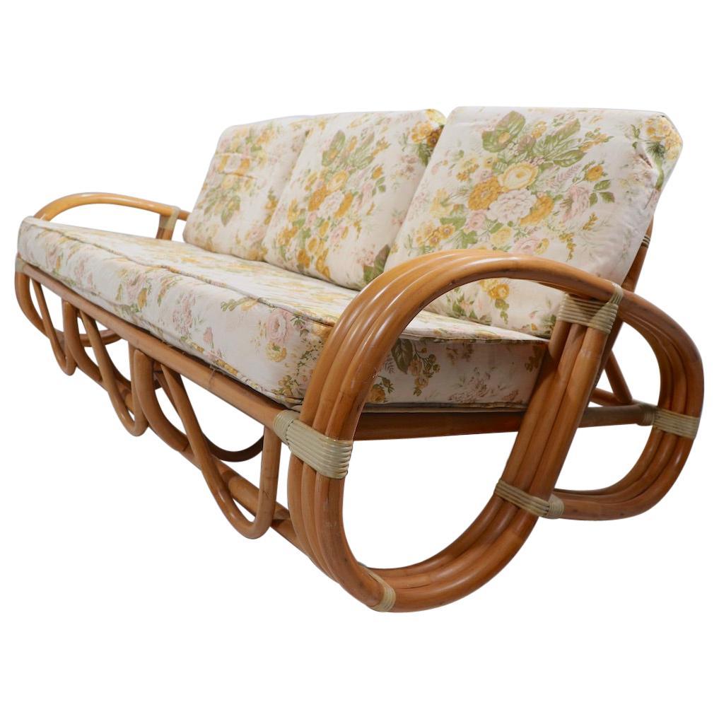 Pretzel Arm Bamboo Sofa