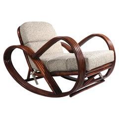 Pretzel Bamboo Rocking Chair after Frankl