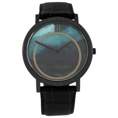 Prezioso Black IP and Black Mother of Pearl Watch