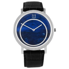 Prezioso Steel and Lapis Watch