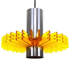 Priest Collar, 'Symfoni' 'Yellow' Pendant Light by Claus Bolby, 1967