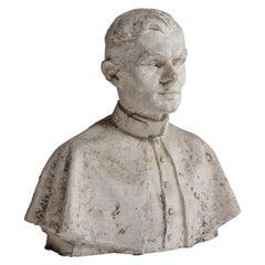 Priest Plaster Bust