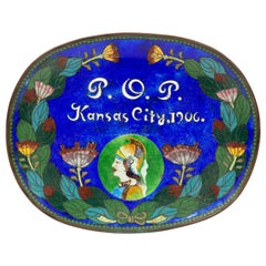 Priests of Pallas Festival Kansas City Chinese Cloisonné Card Tray, 1906