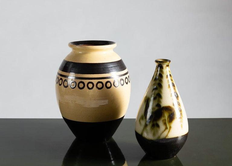 Primavera, Art Deco Glazed Ceramic Vase, France, circa 1930 In Good Condition For Sale In New York, NY