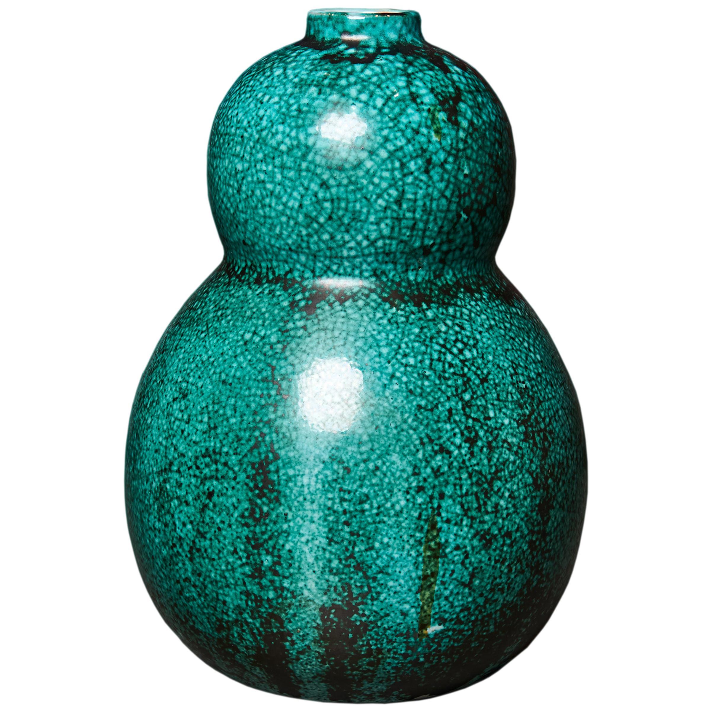 Primavera Glazed Ceramic Vase, France, c. 1930s