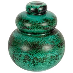 Primavera, Gourd-Shaped Art Deco Vase, France, Early 20th Century
