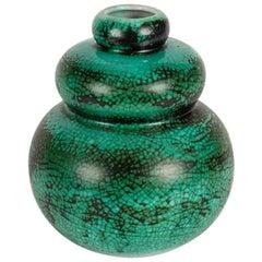 Primavera, Gourd-Shaped Art Deco Vase, France, Early 20th Century