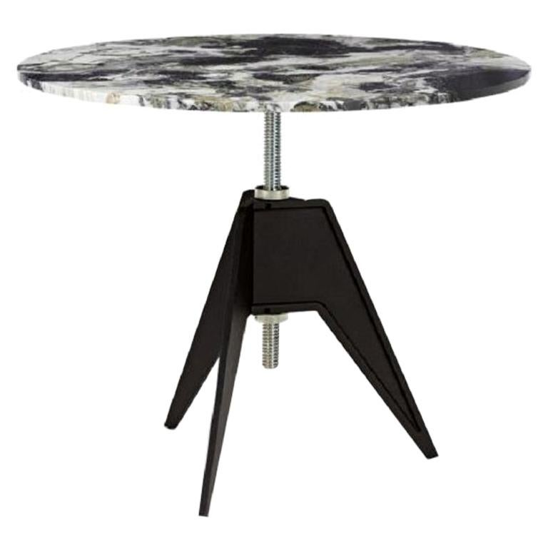 Primavera Marble-Top Adjustable Height Screw Cafe Table For Sale