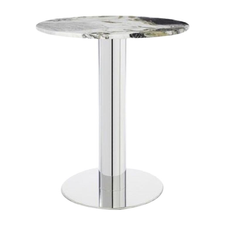 Primavera Marble Tube Chrome High Table For Sale