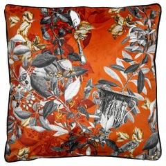 Primavera Romana, Contemporary Velvet Printed Pillow by Vito Nesta