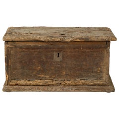 Primitive 17th Century Italian Walnut Box