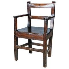Primitive 18th Century Oak Armchair