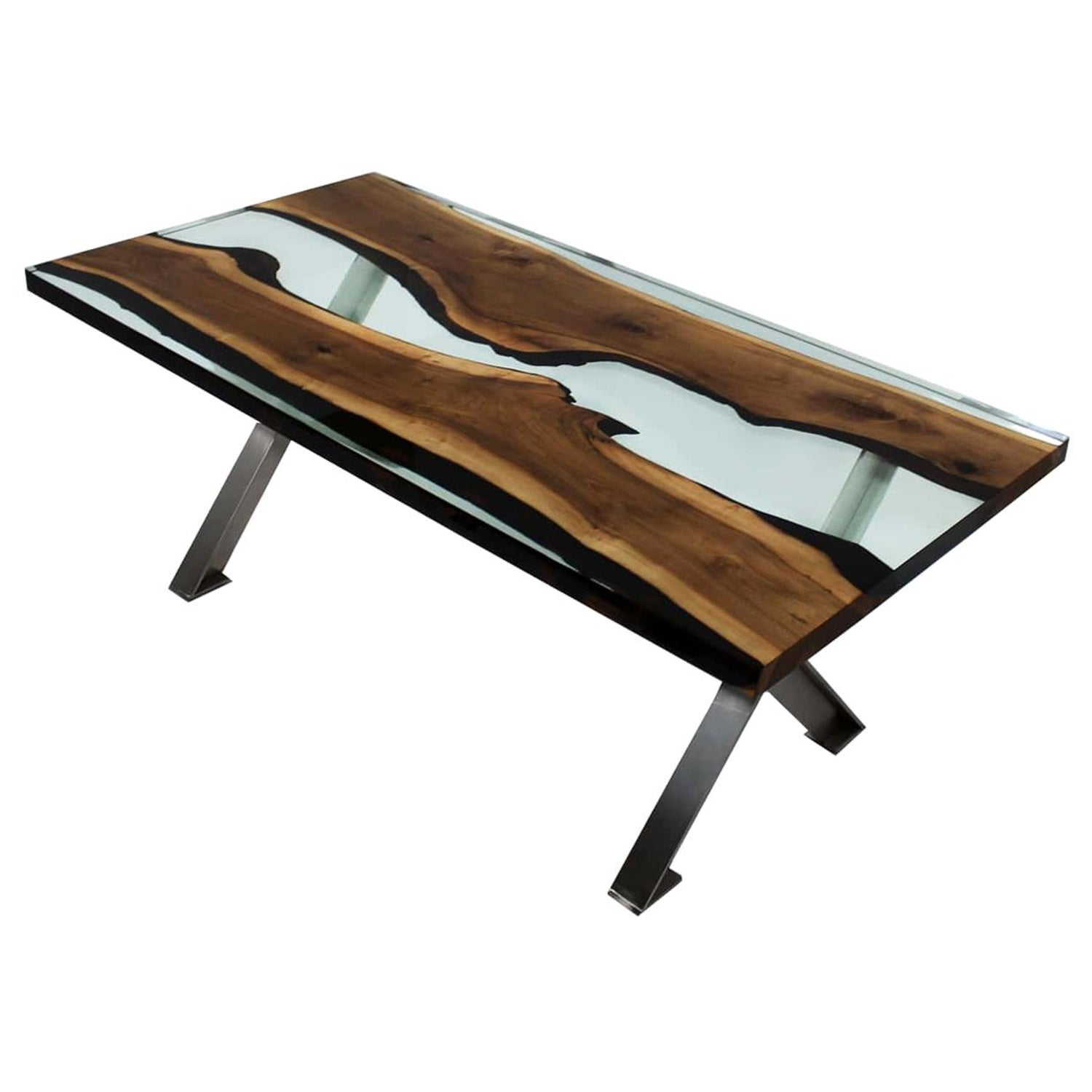 Magnificent Primitive 200 Epoxy Resin Dining Tables With X Legs Machost Co Dining Chair Design Ideas Machostcouk